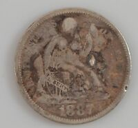 1887 LIBERTY SEATED DIME G33