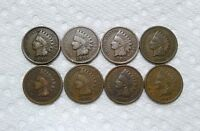 LOT OF 8 INDIAN CENTS 1900 1907 REALLY NICE COINS MUST SEE PHOTOS