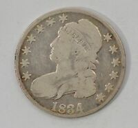 1834 CAPPED BUST LARGE DATE SMALL LETTERS SILVER HALF DOLLAR G18