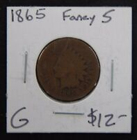 1865 GOOD INDIAN HEAD CENT FANCY