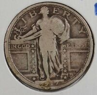 1917 25C TYPE 1 STANDING LIBERTY QUARTER GOOD CONDITION 132857