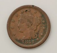 1851 BRAIDED HAIR LARGE CENT Q01
