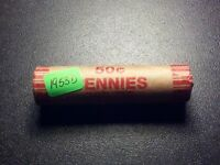 1953 D LINCOLN WHEAT CENT SOLID DATE ROLL G-EXTRA FINE  50 PC. BN324