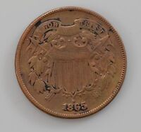 1865 TWO CENT PIECE Q76