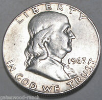 1963  D FRANKLIN SILVER HALF DOLLAR   NICE COIN IN GOOD CONDITION