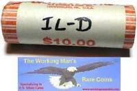 2003 D ILLINOIS QUARTER UNCIRCULATED ROLL   BANK WRAPPED UNC IL D HEADS/TAILS