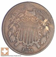 1871 TWO CENT PIECE YB16