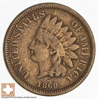 1860 INDIAN HEAD CENT   COPPER NICKEL   CIVIL WAR ERA 459