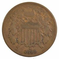 1869 TWO-CENT PIECE J83