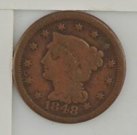 1848 BRAIDED HAIR LARGE CENT Z81