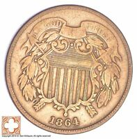 1864 TWO CENT PIECE XB43