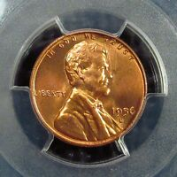 1956 D     LINCOLN CENT    PCGS    CERTIFIED       MS 66  RED     30742218  6F