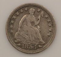 1854 LIBERTY SEATED HALF DIME ARROWS AT DATE G73