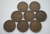 1897 1898,1899,1900,1902,1903,1904 & 1907 INDIAN HEAD CENTS LOT OF 8
