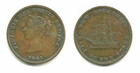 NEW BRUNSWICK   HALF PENNY TOKEN   1843 NICE LOOK