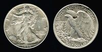 1940-S US 50C LIBERTY WALKING HALF DOLLAR SILVER COIN FIFTY CENTS CLEAN TONED AU