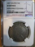 1807 DRAPED BUST HALF DOLLAR 50C - NGC EXTRA FINE   -  REALLY
