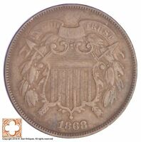 1868 TWO CENT PIECE YB23