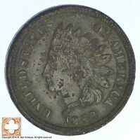 1862 INDIAN HEAD CENT   COPPER NICKEL   CIVIL WAR ERA 832