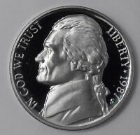 1987 GEM PROOF PF JEFFERSON NICKEL 5 CENTS 5C UNC UNCIRCULATED US COIN FREE SHIP