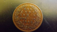 STRAITS SETTLEMENT  CENT 1862 VF  OR BETTER