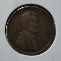 1913-S 1C LINCOLN ONE CENT VF  FINE COIN