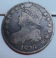 1826 CAPPED BUST HALF DOLLAR // VG FINE // H2476