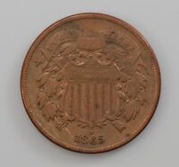 1865 TWO CENT PIECE Q08