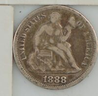 1888 LIBERTY SEATED DIME Z26
