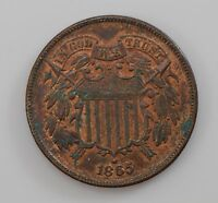 1865 TWO-CENT PIECE Q85