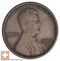 1913-S LINCOLN WHEAT CENT 2653