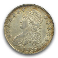 1826 CAPPED BUST LETTERED EDGE 50C NGC AU55 O 116A