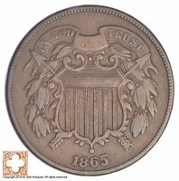 1865 TWO CENT PIECE YB77