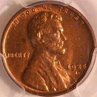 1925 D LINCOLN CENT PCGS MINT STATE 64RB, HIGH GRADE SEMI KEY, AWESOME COLOR,