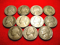 ALL 11 1942 45 SILVER WAR NICKELS IN A NICE SHAPE FOR THEIR AGE    1