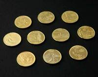 24 KT GOLD PLATED STATE QUARTER 10 PACK