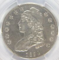 1834 CAPPED BUST HALF DOLLAR SMALL DATE SMALL LETTERS PCGS GENUINE AU DETAILS