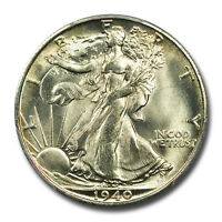 1940-S 50C WALKING LIBERTY HALF DOLLAR PCGS MINT STATE 66