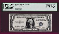 FR.1616  $1  1935 G  NO MOTTO  SILVER CERTIFICATE NOTE PCGS 67 SN B 925833360  J