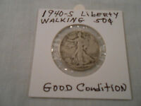 COIN:USA: 1940-S LIBERTY WALKING HALF DOLLAR: 1 COIN:SILVER/CIRCULATED/ORIGINAL