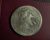 RUSSIAN 1736 RUBLE COIN 1 RUBLE NICE