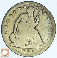 1859 O SEATED LIBERTY SILVER HALF DOLLAR XB20