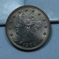1902 LIBERTY V NICKEL // GEM UNCIRCULATED BU // V1830