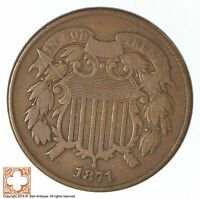 1871 TWO CENT PIECE XB13