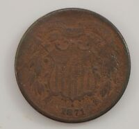 1871 TWO-CENT PIECE G31