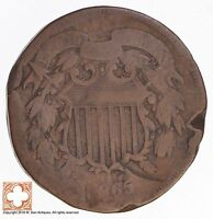 1865 TWO CENT PIECE 4501