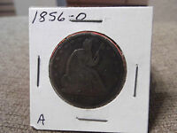 1856 0 SEATED HALF DOLLAR GOOD