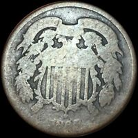 1865 2 CENT NICE BROWN TONE 229