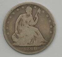 1860 O SEATED LIBERTY HALF DOLLAR Q46