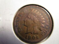 US INDIAN HEAD PENNY 1904 & 1905/ FAIR CONDITION / ITEM  IDHD04,05